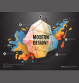 modern abstract background with paint spot and vector image