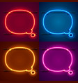 neon frame sign in the shape of a chat vector image