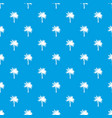 palm pattern seamless blue vector image vector image