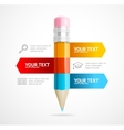 Pencil Infographic Education Concept vector image