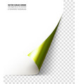 realistic curled corner vector image vector image