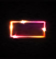 red neon rectangle halogen or led lamp wall sign vector image vector image