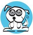 Sad mutt dog vector image vector image