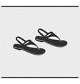 sandals icon black color on transparent vector image vector image