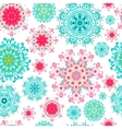 Seamless mandala background vector image