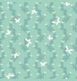 seamless pattern with butterfly and floral vector image vector image