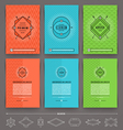 Set of abstract template flyer page design with vector image vector image
