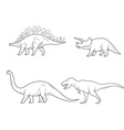Set of Dinosaurs isolated on white background vector image vector image