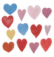 set with colorful heart shape vector image vector image