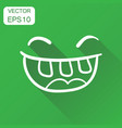 simple smile with tongue icon business concept vector image vector image
