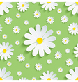 Spring nature green seamless pattern 3d chamomile vector image