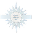 star frame greeting card decor holiday paper vector image vector image