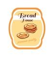 Sticker Bread House vector image vector image