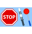 Stop objects icons vector image