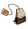 Tea bag with label vector image