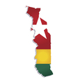 togo africa map flag vector image vector image