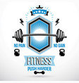 weight-lifting exercise room symbol barbell vector image