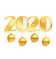 white and golden 2020 in sparkles style background vector image vector image