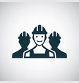 worker group icon for web and ui on white vector image