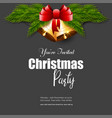 you are invited into christmas party jingle bell vector image