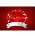 Christmas background with Shiny ribbon vector image