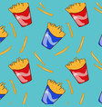 flat fast food pattern vector image