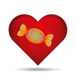 heart cartoon candy sweetand blue dots icon design vector image