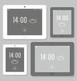 Tablet mockup set vector image