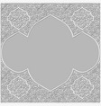 background with traditional patterned frame vector image