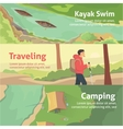 Colourful camping flat banner set for your vector image