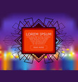a bright background with neon lights in the vector image vector image