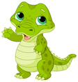 Baby alligator vector image vector image