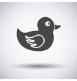 Bath duck icon vector image vector image