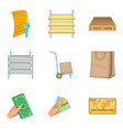 building repair icons set cartoon style vector image vector image