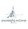 business achieve success top mountain sun vector image vector image