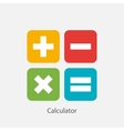 Calculator Sign Symbol Icon vector image