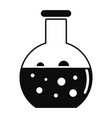 chemical round flask icon simple style vector image