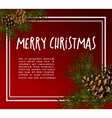 Christmas greeting-card with fir-tree vector image vector image