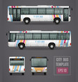 city bus template in realistic style vector image vector image
