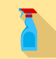 cleaning bottle spray icon flat style vector image
