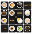 collection of beverage vector image
