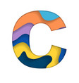 colorful letter c vector image vector image