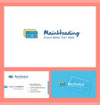 credit card logo design with tagline front and vector image vector image