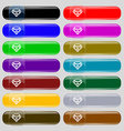 Diamond Icon sign Set from fourteen multi-colored vector image vector image