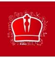 Drawing business formulas crown vector image vector image