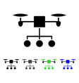 Drone distribution flat icon vector image