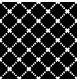 Elegant Black and White Rhombus Seamless Pattern vector image vector image