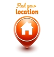 find your location web symbol vector image vector image