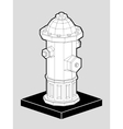 Fire hydrant isometric 3d vector image