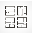 Floor plan icons vector image